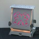 Rose window toaster lamp