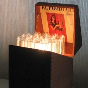 Cigar box and tube lamp