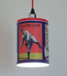 Cracker Jack tin pendant light