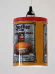 Quaker Corn Meal tin pendant light