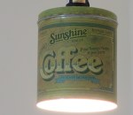 Sunshine Coffee tin pendant light