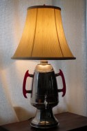 Mikado coffee urn lamp with new old stock shade