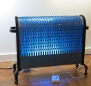 Trip the Light Fantastic vintage heater with color changing LEDs