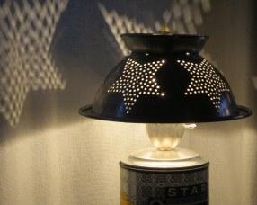 Stella Starbot colander lamp