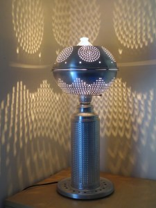 dot.bot tabletop colander shadow lantern