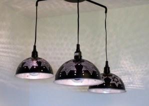 Alpha Centauri triple colander chandelier