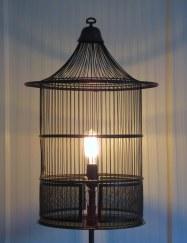 Heronlight birdcage floor lamp