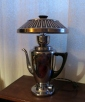 Mirro Galaxie coffee pot lamp with hubcap shade