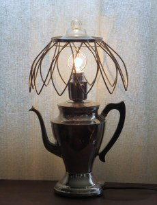 Madame Blavatsky coffee pot lamp