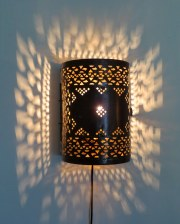 Dihya brass fretwork sconce
