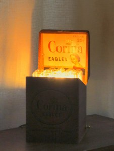Not Just a Cigar Box accent lamp with LED bulb