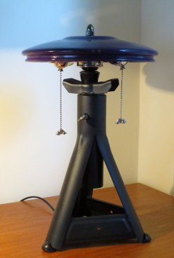 Roboto Ronin jackstand lamps with VW hubcap shades